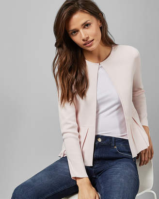 Ted Baker DANYIEL Pleat insert peplum cardigan