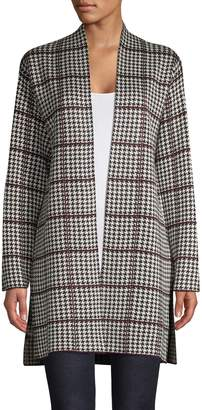 Calvin Klein Houndstooth Long-Sleeve Cardigan