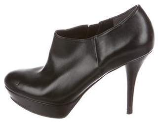 Marc Fisher Leather Round-Toe Booties