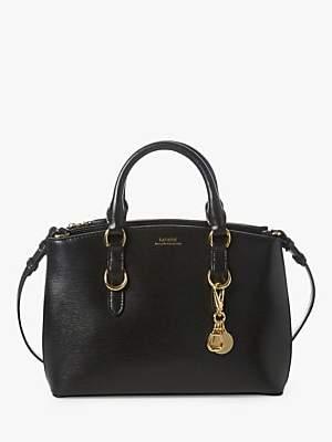 Ralph Lauren Ralph Saffiano Mini Leather Satchel, Black
