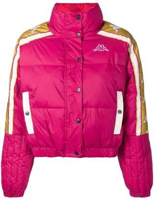 Kappa logo band puffer jacket