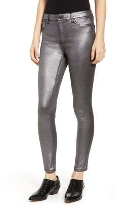 Tinsel Metallic Coated Skinny Jeans