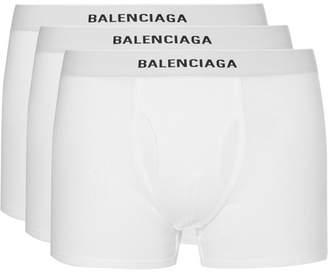 Balenciaga Three-Pack Cotton-Jersey Boxer Briefs