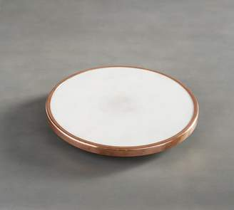 Pottery Barn Marble and Copper Lazy Susan