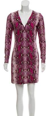 Diane von Furstenberg Snakeskin Print Mini Dress