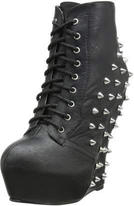 Bettie Page Women's BP588-Belladona Combat Boot