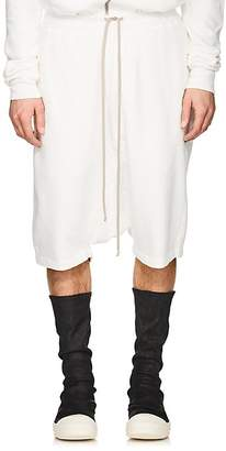 Rick Owens Men's Pod Cotton Fleece Drop-Rise Shorts