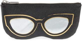 Rebecca Minkoff Cat Eye Sunnies Print Leather Pouch