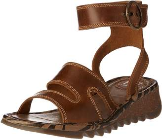 Fly London Womens TILY722FLY Wedge Leather Sandals 38 EU