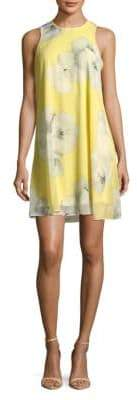 Calvin Klein Sleeveless Floral Smock Dress