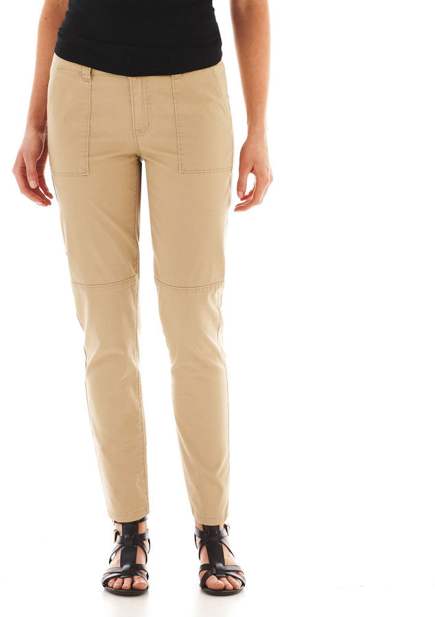 JCPenney A.N.A a.n.a Cropped Utility Pants