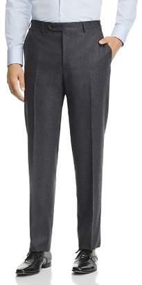 Canali Melange Flannel Classic Fit Dress Pants