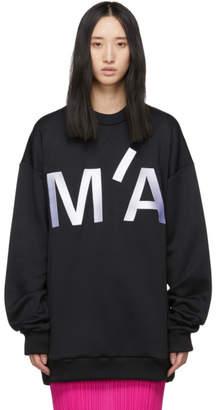 Marques Almeida ブラック オーバーサイズ エンブロイダリー スウェットシャツ