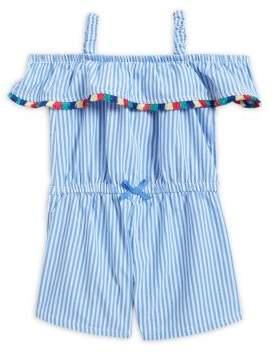 Nannette Little Girl's Striped Off-the-Shoulder Romper