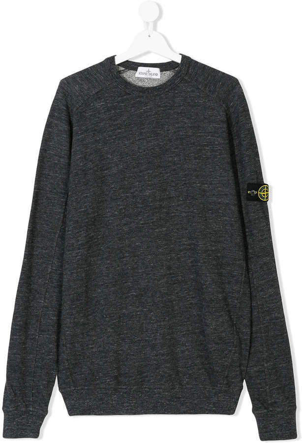 Stone Island Junior TEEN logo sweatshirt