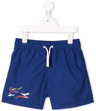 Lacoste Kids contrast logo shorts
