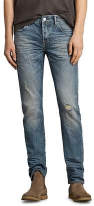AllSaints Iowa Reed Slim Fit Jeans in Indigo