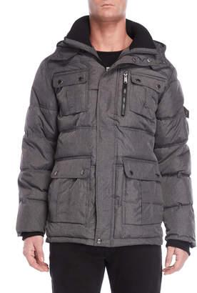 Ben Sherman Hooded Quilted Coat