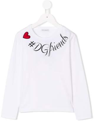 Dolce & Gabbana tDGfriends print top
