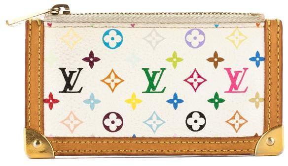Louis VuittonLouis Vuitton White Monogram Canvas Multicolore Pochette Cles Coin Case (Pre Owned)