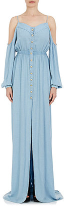 Balmain Women's Off-The-Shoulder Maxi Dress $1,700 thestylecure.com