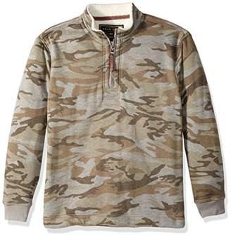 True Grit Men's Bonded Heather Lux Plush Fleece 1/4 Zip Pullover