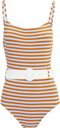 Solid & Striped Nina Belted One Piece Swimsuit