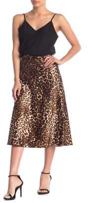 Vero Moda Christas Satin Midi Skirt