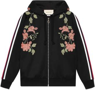 Gucci Crystal embroidered jersey sweatshirt