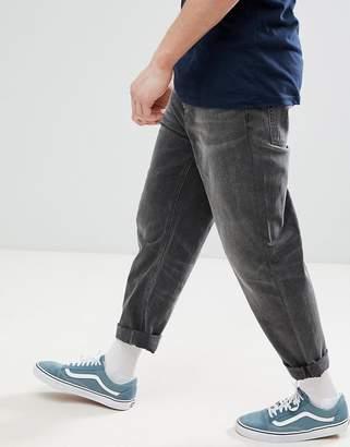 Asos DESIGN skater jeans in washed black