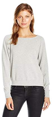 Velvet by Graham & Spencer Women's Viscose Fleece Reversible Sweatshirt