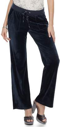 Juicy Couture Women's Supersoft Velour Bootcut pants