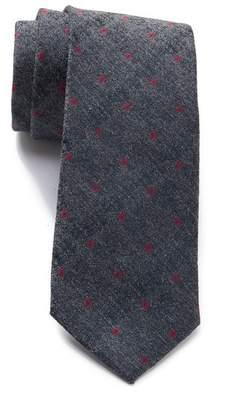 Calvin Klein Red Hot Neat Silk Blend Tie
