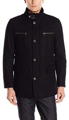 Cole Haan Men's Wool Melton Coat with Nylon Bib