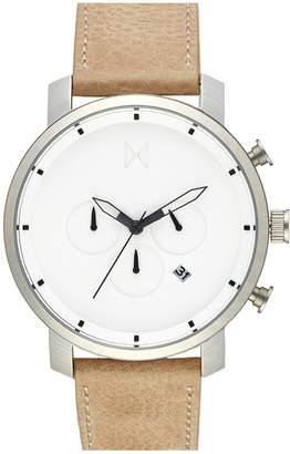 MVMT Chronograph Leather Strap Watch, 45mm