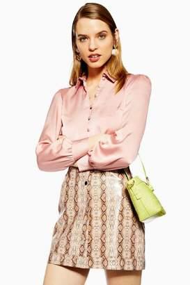 Topshop Womens Rouleau Button Shirt