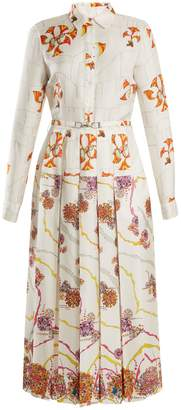 GABRIELA HEARST Rosa spread-collar psychedelic-print silk dress
