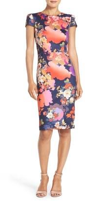 Betsey Johnson Flower Print Scuba Sheath Dress $148 thestylecure.com