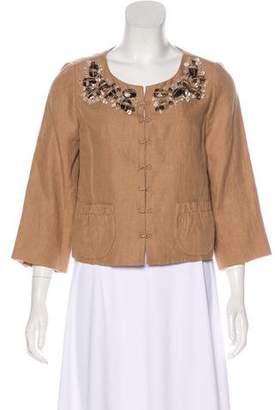 Robert Rodriguez Embellished Linen Jacket