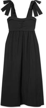 See by Chloe Ruched Gauze Midi Dress - Black
