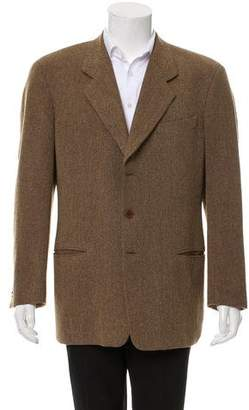 Giorgio Armani Tweed Three-Button Blazer