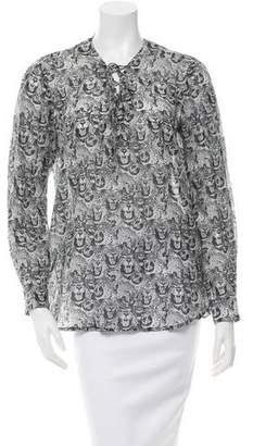 Roseanna Printed Long Sleeve Blouse w/ Tags