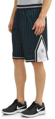 AND 1 AND1 Men's Striped Mesh Basketball Shorts