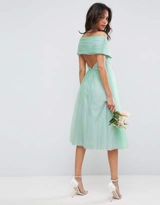 Asos Design WEDDING Tulle Midi Dress