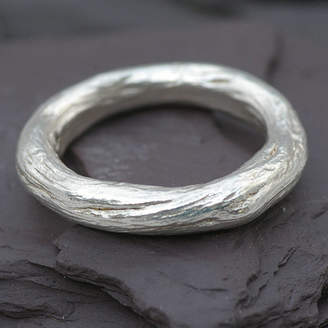 Gents Anthony Blakeney Silver Rose Root Ring
