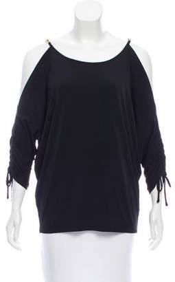 MICHAEL Michael Kors Cold-Shoulder Embellished Top