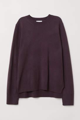 H&M Fine-knit Cashmere Sweater - Purple