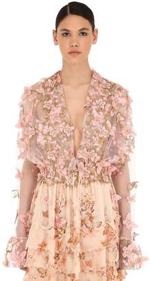 Luisa Beccaria EMBELLISHED TULLE TOP