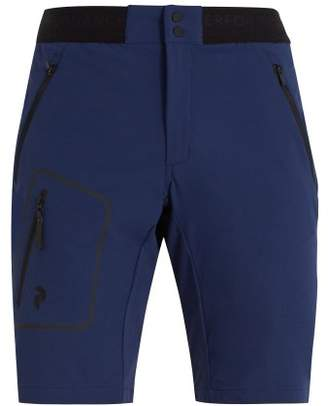 Peak Performance - Mid Rise Logo Jacquard Shorts - Mens - Blue Multi