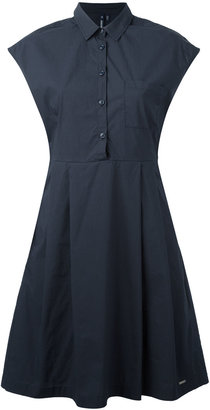 Woolrich fitted pleat dress $133.58 thestylecure.com